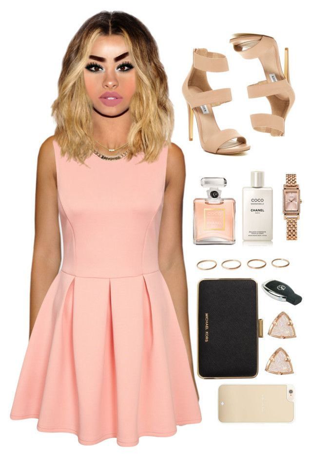 """14 June, 2015"" by jamilah-rochon ❤ liked on Polyvore featuring Givenchy, Dogeared, Steve Madden, MICHAEL Michael Kors, Kate Spade, Kendra Scott, Coach and Chanel"