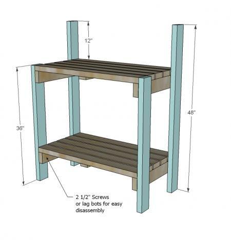 Sensational Simple Potting Bench Gardening Potting Bench Plans Pabps2019 Chair Design Images Pabps2019Com