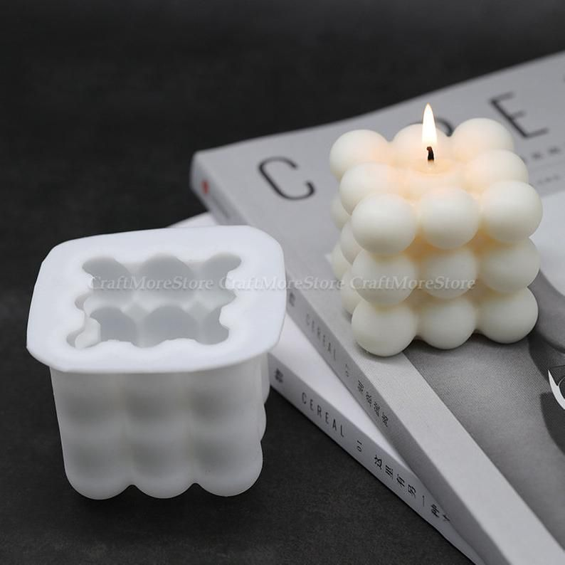 DIY Cone Crystal Epoxy Resin Decoration Mould Aroma Candle Silicone Mold+Frame