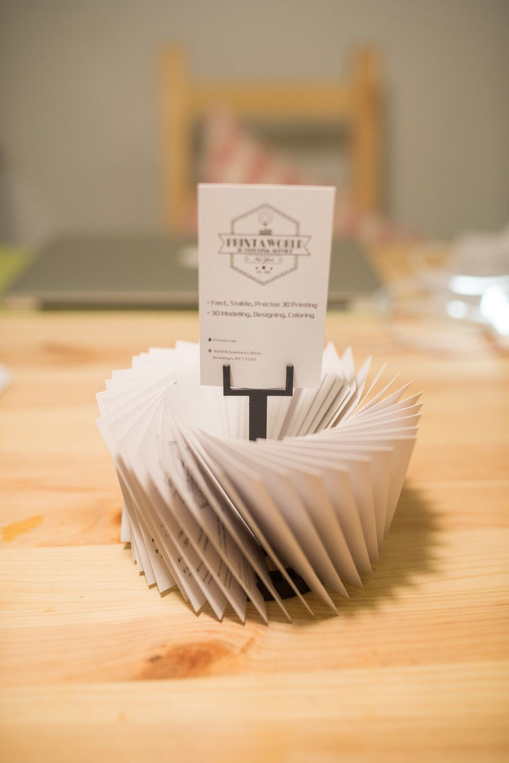 3d Printed Business Card Stander, Business Card holder, Dads Gift ...