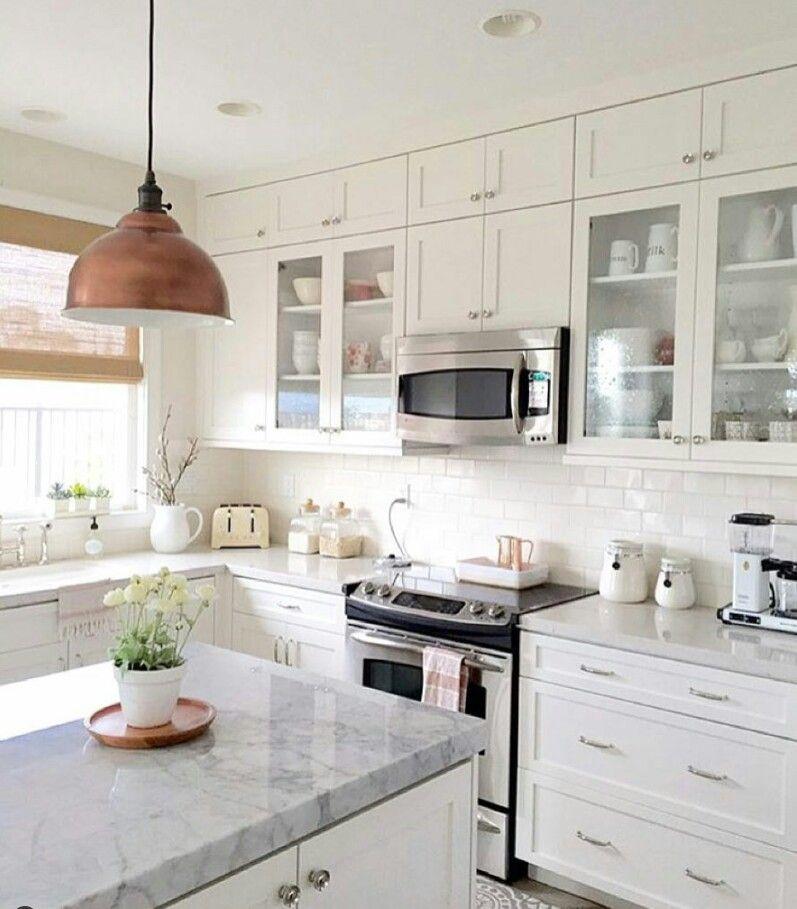 Pin de Sil E en Home Pinterest Cocinas, Cocina blanca y Granito - Cocinas Integrales Blancas