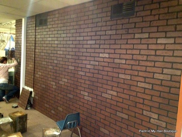 Brick Wall Paneling : Faux brick paneling from lowes hmmmm home decor