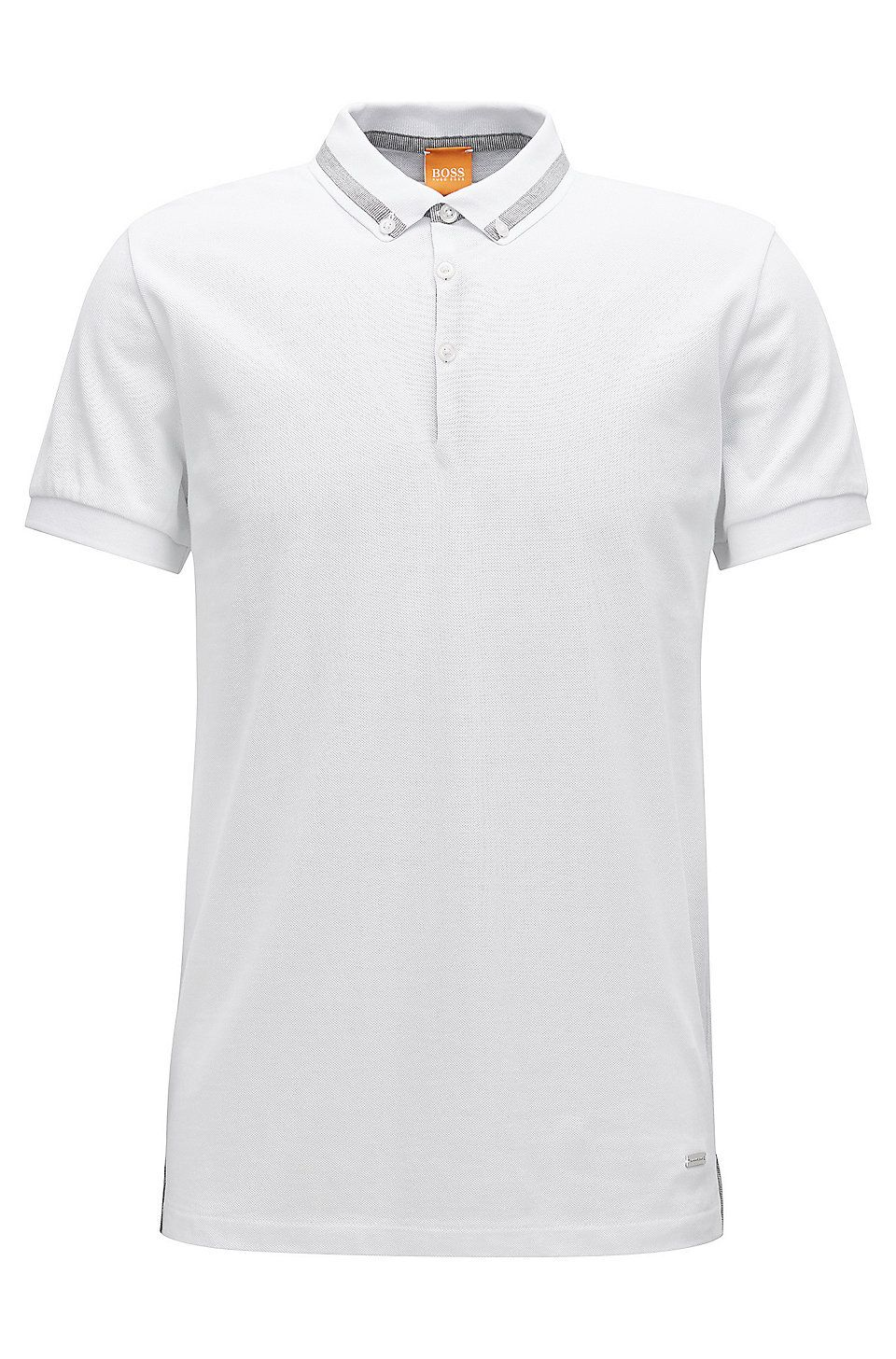 a2e4a92bb Regular-fit polo shirt in piqué cotton White from BOSS Orange for Men for  £59.00 in the official HUGO BOSS Online Store free shipping