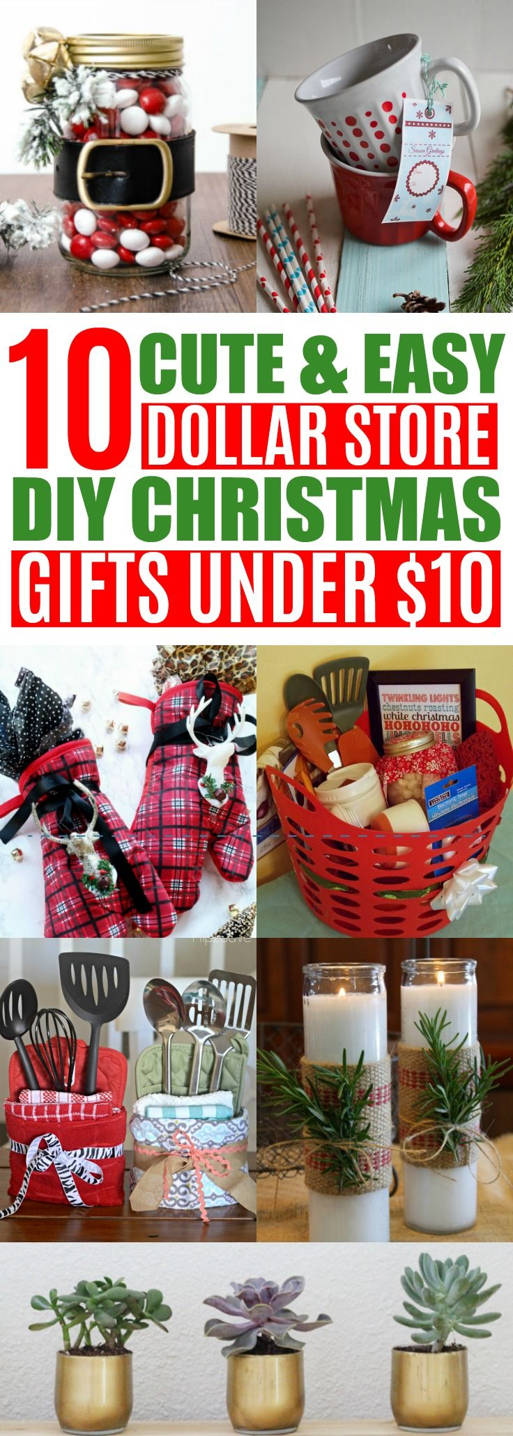 diy cheap christmas gift ideas from the dollar store under
