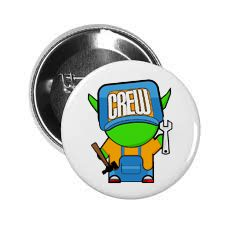 Hat pin! Crew little guy!