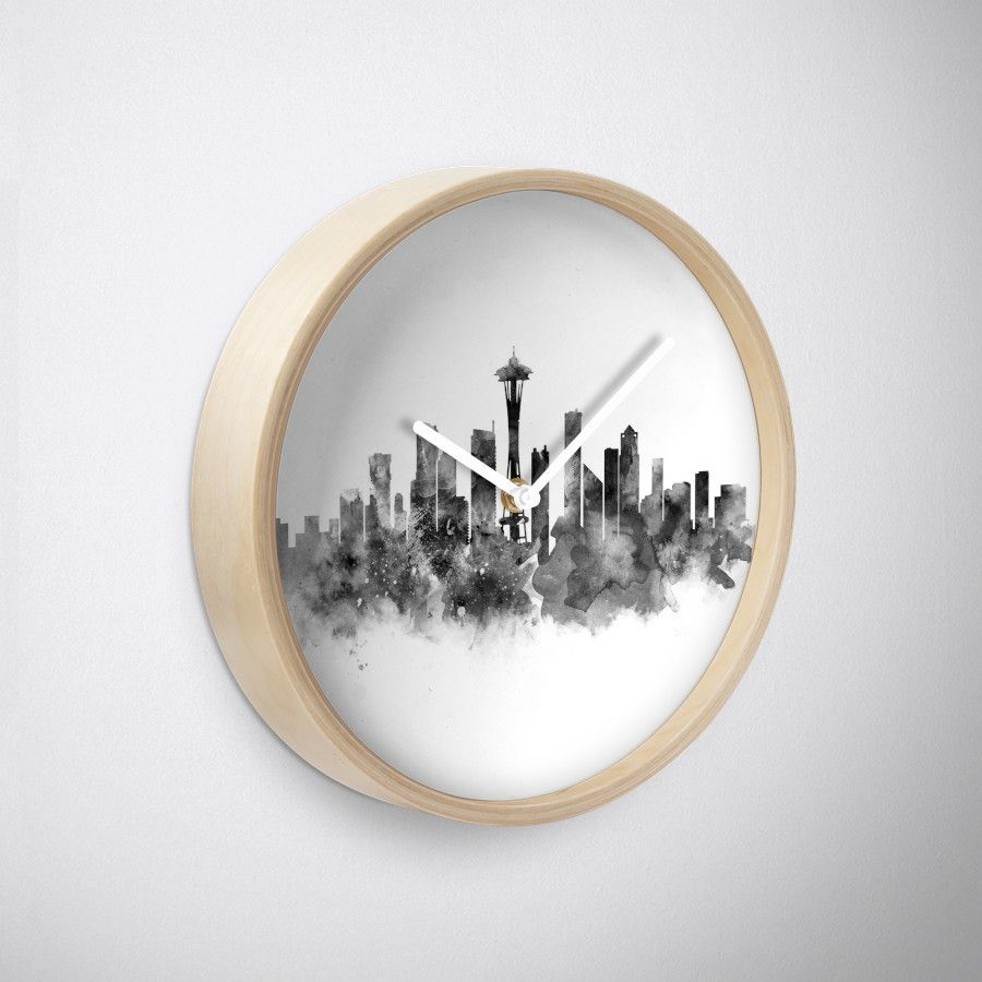 Seattle Black and White #seattle #skyline #landscape #cityscape #art ...