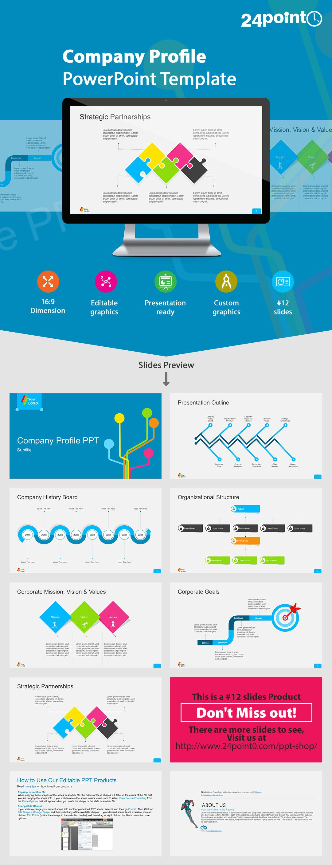 Company Profile Powerpoint Template Use This Template To Make An