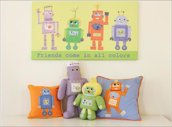 Baby friendly nursery room design robot nursery space for Robot room decor