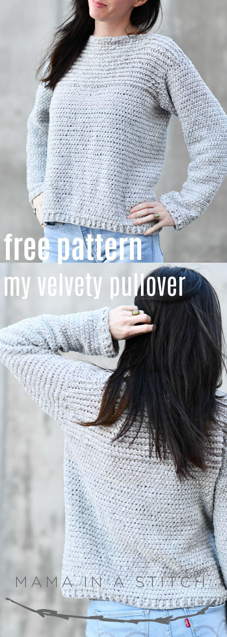 My Velvety Pullover Crochet Pattern #sweatercrochetpattern