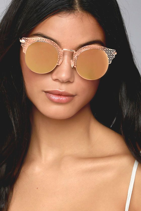 43b8ec75098 Livin  Easy Rose Gold Mirrored Sunglasses