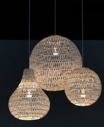 Suspension en papier tress crea pinterest for Luminaire suspension osier