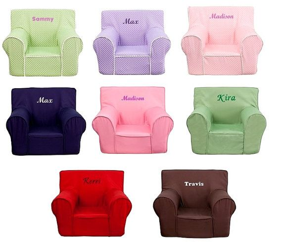 Personalized Kids Foam Arm Chair 8 Colors And Tons Of Text Colors To Choose From Kids Chairs Toddler Chair Personalized Chairs