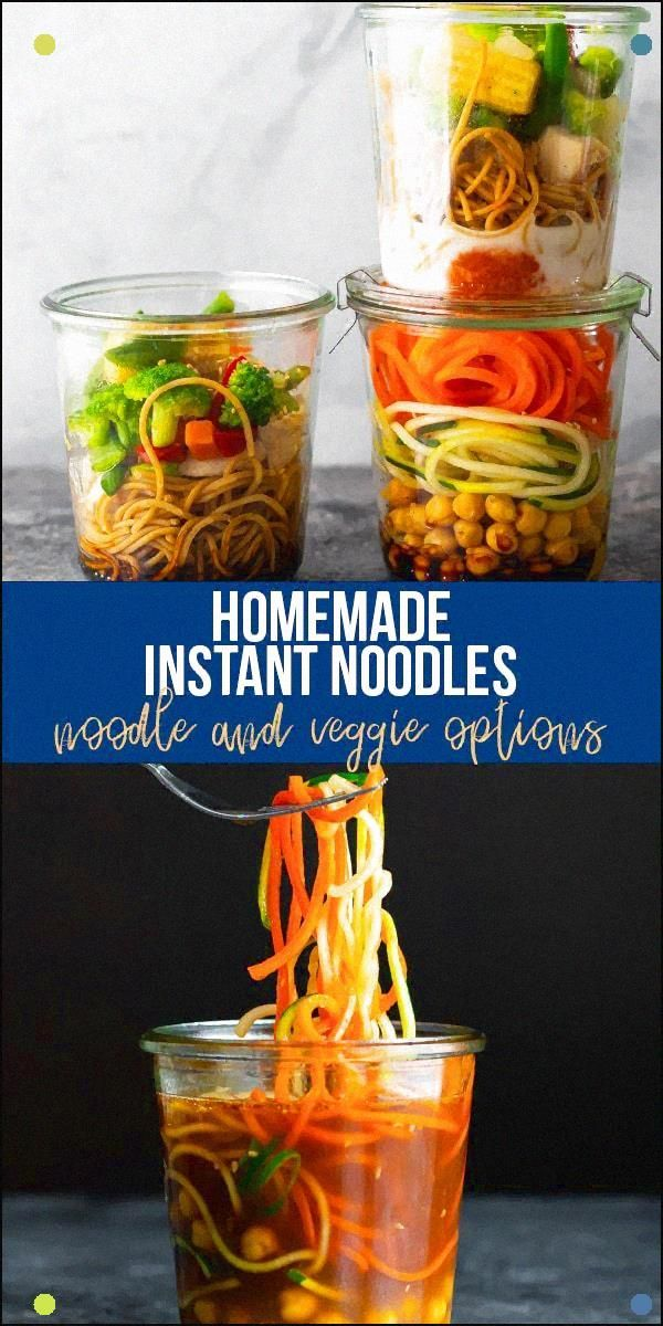 These Healthy Homemade Instant Noodles Recipes Are Made With Whole Wheat Spaghetti, Rotisserie Chicken, And Veggies, And Taste Just As Good As Ramen Just Add Water For A Delicious, Hot Lunch. #Sweetpeasandsaffron #Instantnoodles #Healthy #Worklunch #Ramen #Mealprep #Wholewheat