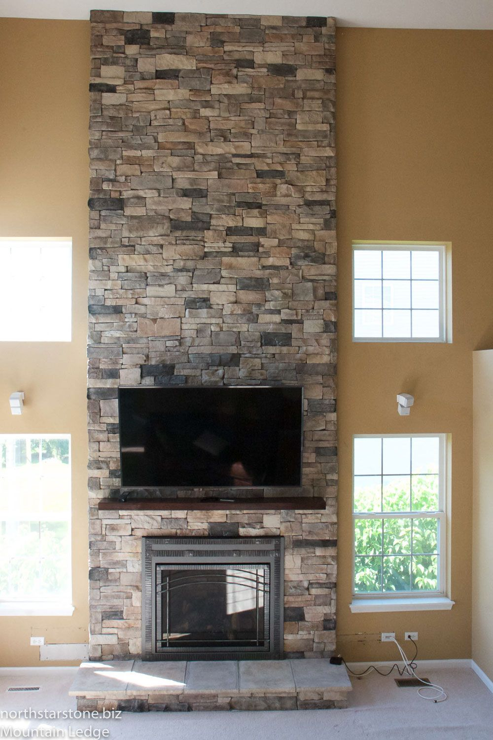 We Built A Frame Over The Existing Drywall Fireplace To Create
