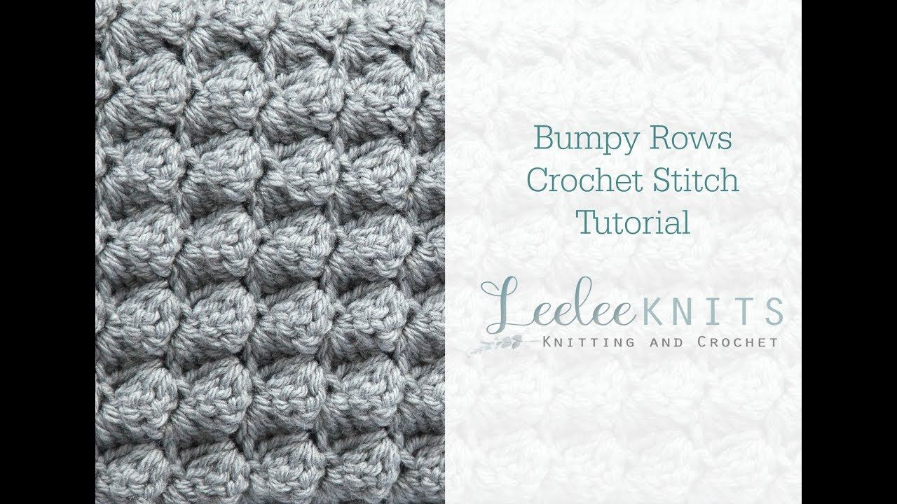 Bumpy Rows Crochet Stitch - YouTube | cat crochet applique | Pinterest