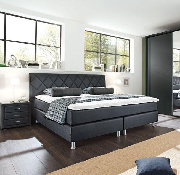 Bugatti Bett Lederlook Schwarz #Schlafzimmer #Schlafzimmerideen #Einrichtung