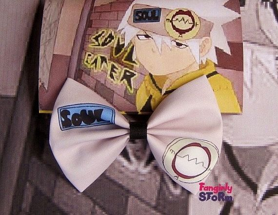 Soul Eater   Hair bow/ Bow tie Handmade Geeky by FangirlyStorm