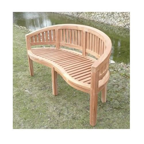 Swell Banana Garden Bench 3 Seater Curved Design Teak Wood Ocoug Best Dining Table And Chair Ideas Images Ocougorg