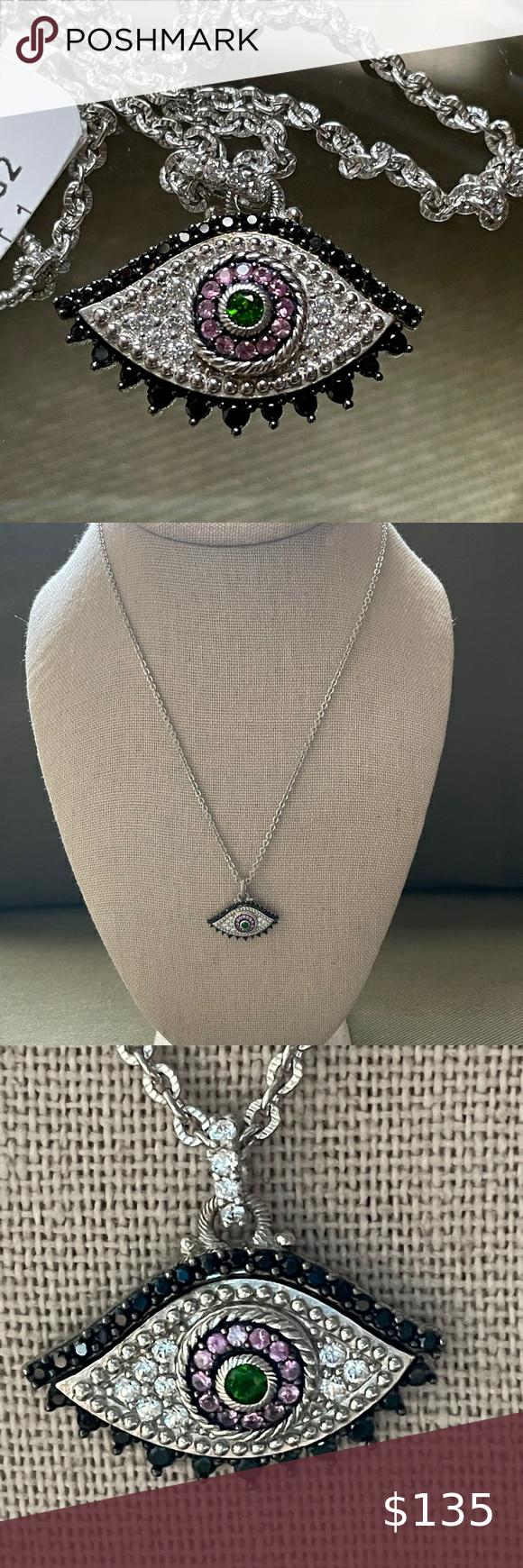 Sterling Silver Mandala Pendant with Chrome Diopside Gem
