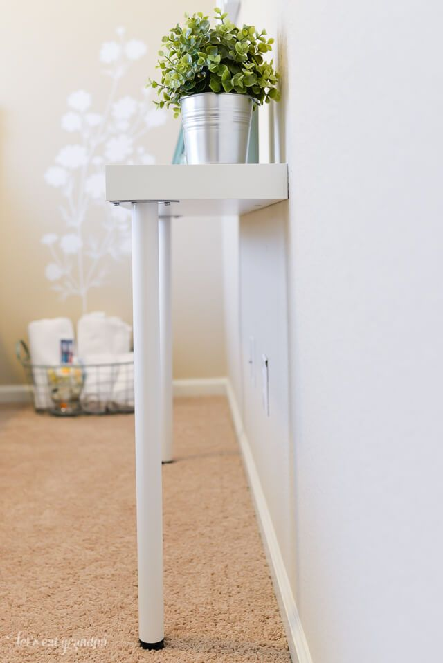Simple Ikea Hack Narrow Console Table For Just 22