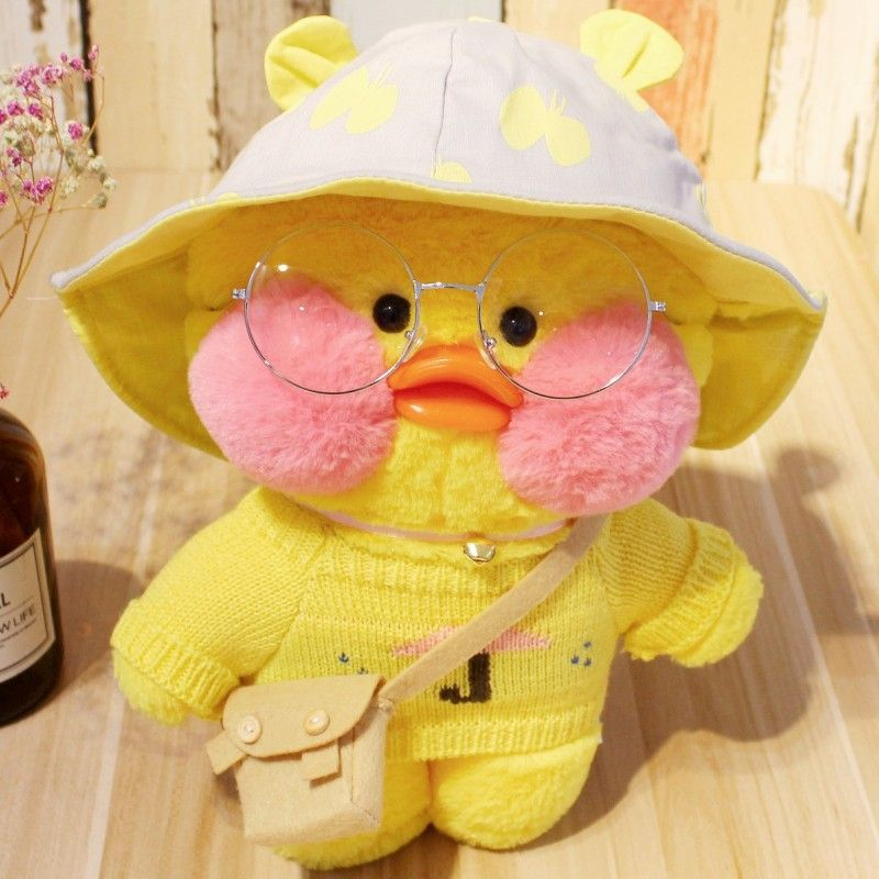 Cafe Mimi Yellow Duck Plush Toy With Pink Cheek Stuffed Duck Toys Cute Stuffed Animals Duck Toy Cute Ducklings
