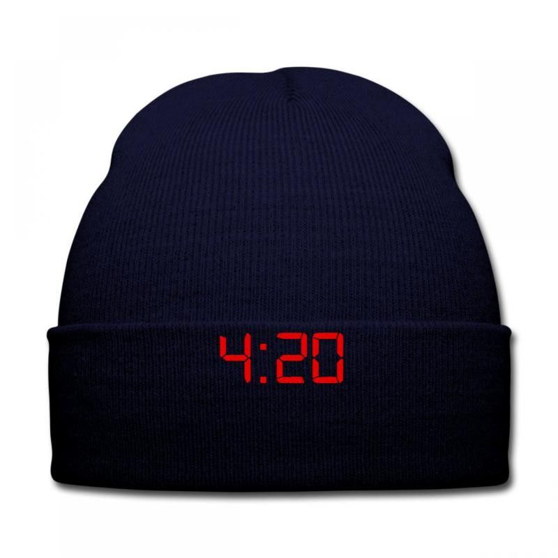 4 20 embroidery Knit Cap