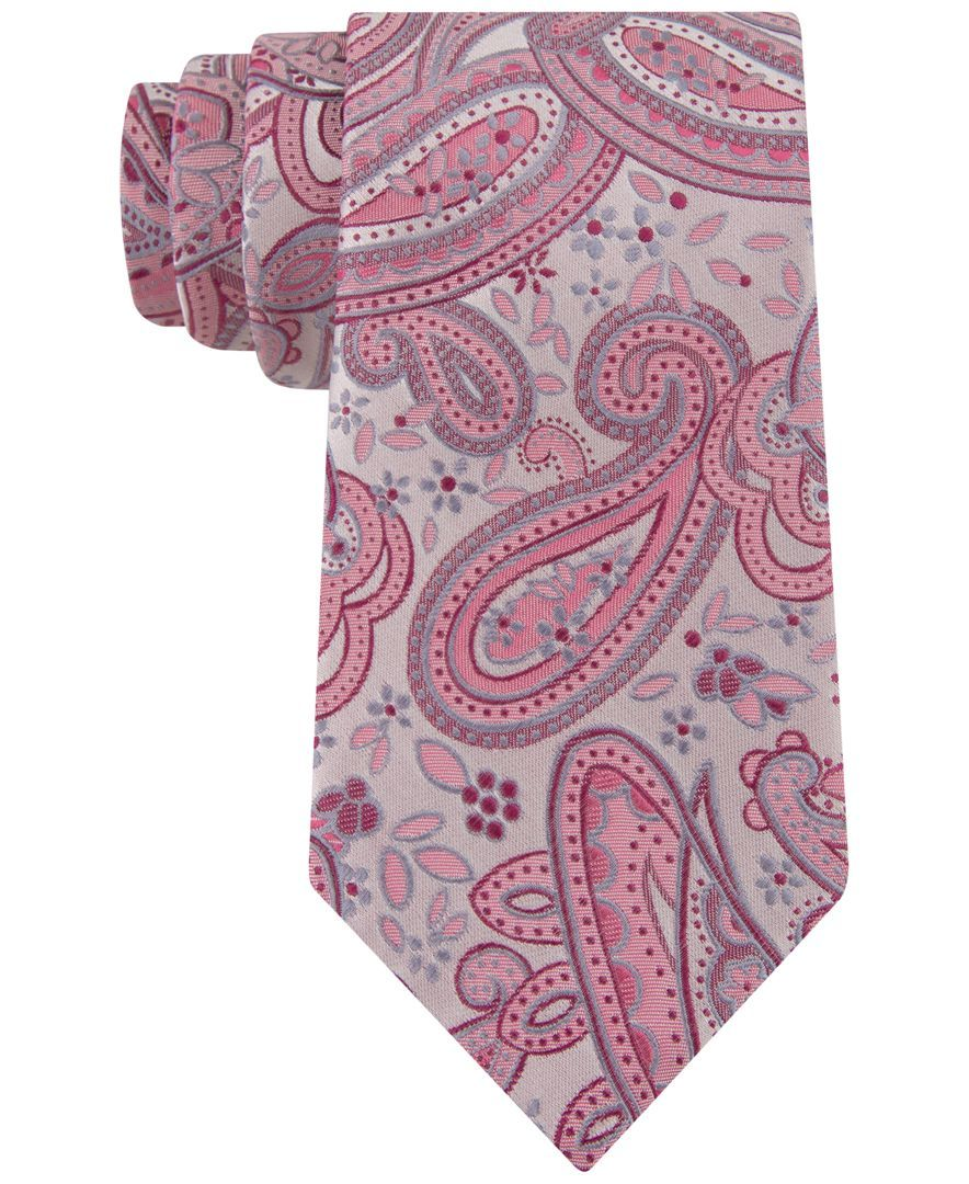"""For the timeless chap, Geoffrey Beene offers this regular tie in traditional paisley. 