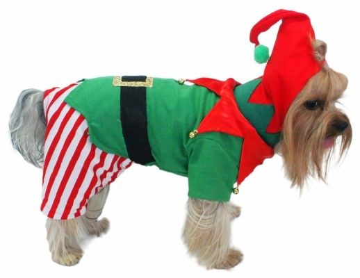 Christmas Elf Dog Costume Christmas Dog Costume Christmas