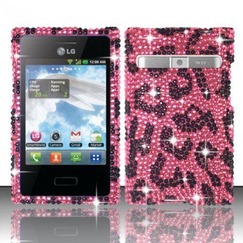 TRENDE - LG Optimus Logic L35g / Dynamic L38c Case Pink Leopard Diamond Design Cover (Straight Talk/Net 10) + Free TRENDE Gift Box TRENDE - LG Optimus Logic L35g Case,http://www.amazon.com/dp/B00C06764K/ref=cm_sw_r_pi_dp_z33Xsb1D1NSWBB79