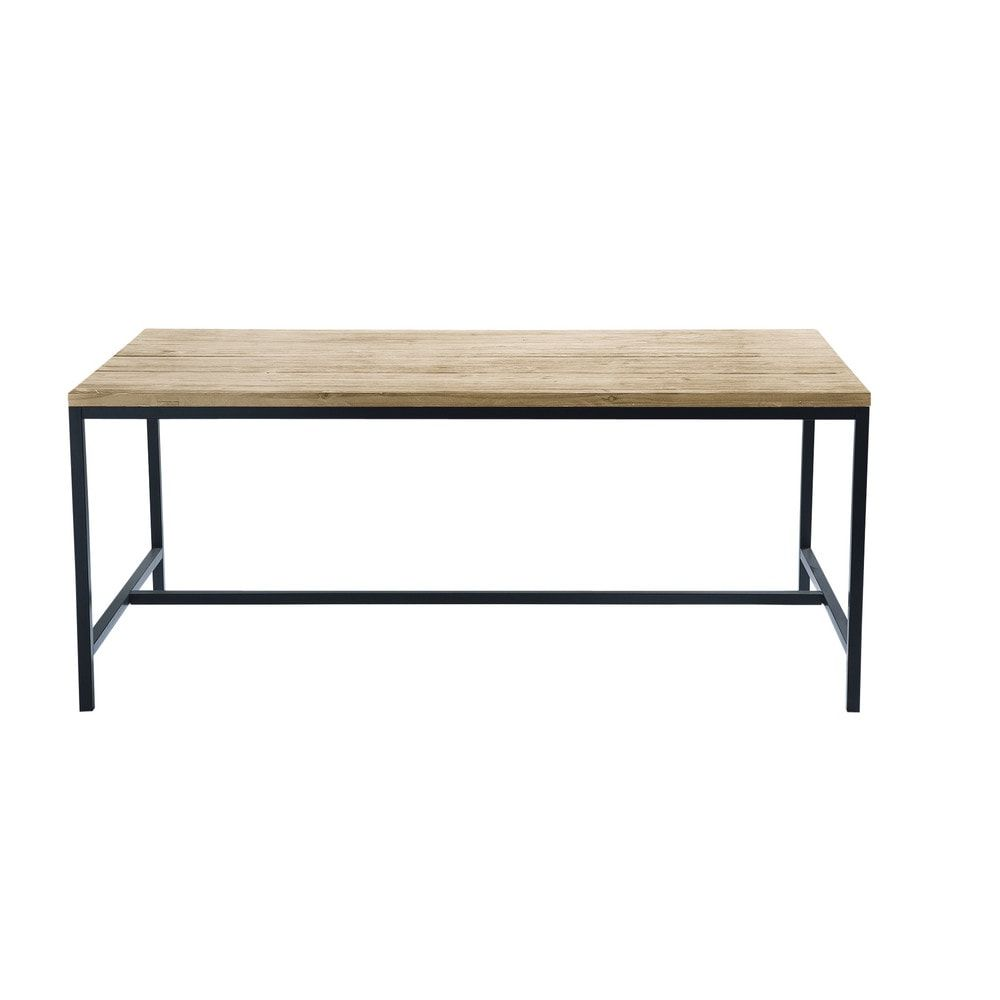 Table W178 Metal 8 Dining and Seater Fir Solid Industrial nmwvN80O