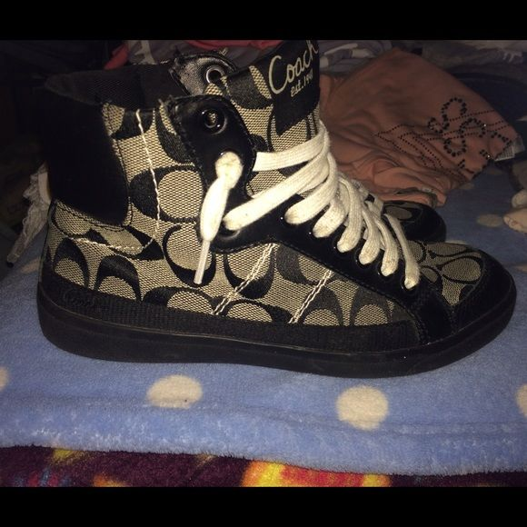 Coach high tops size 8 Coach high tops in great condition barely worn size 8 Coach Shoes Sneakers