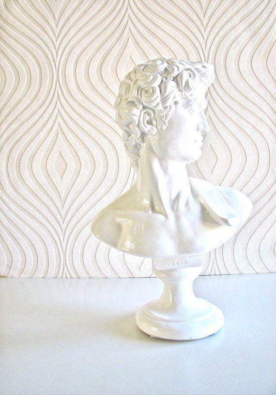 David Bust Statue in white by mahzerandvee on Etsy, $60.00