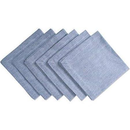kitchen napkins hotels with a dii solid chambray cotton napkin set of 6 20 inchx20 inch 100 multiple colors multicolor