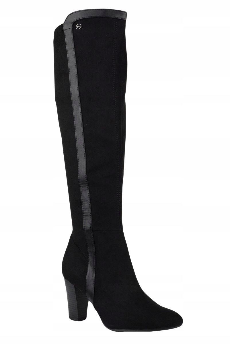 Tamaris Kozaki Czarne Ekozamsz Stretch 25514 21 39 7568349725 Oficjalne Archiwum Allegro Boots Over Knee Boot Knee Boots