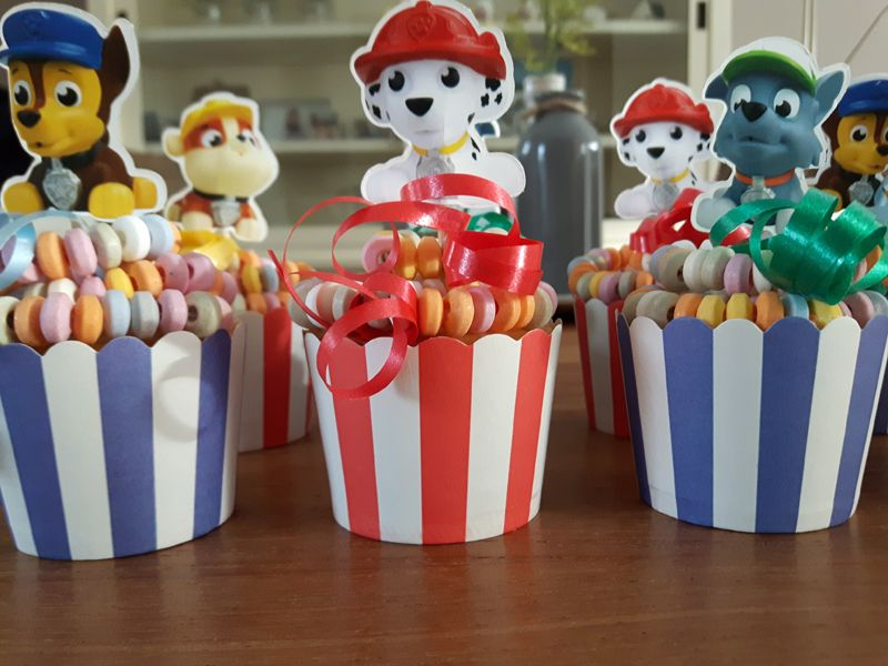 Vaak Paw patrol cupcake traktatie | School Snacks - Paw patrol cupcakes &VR47
