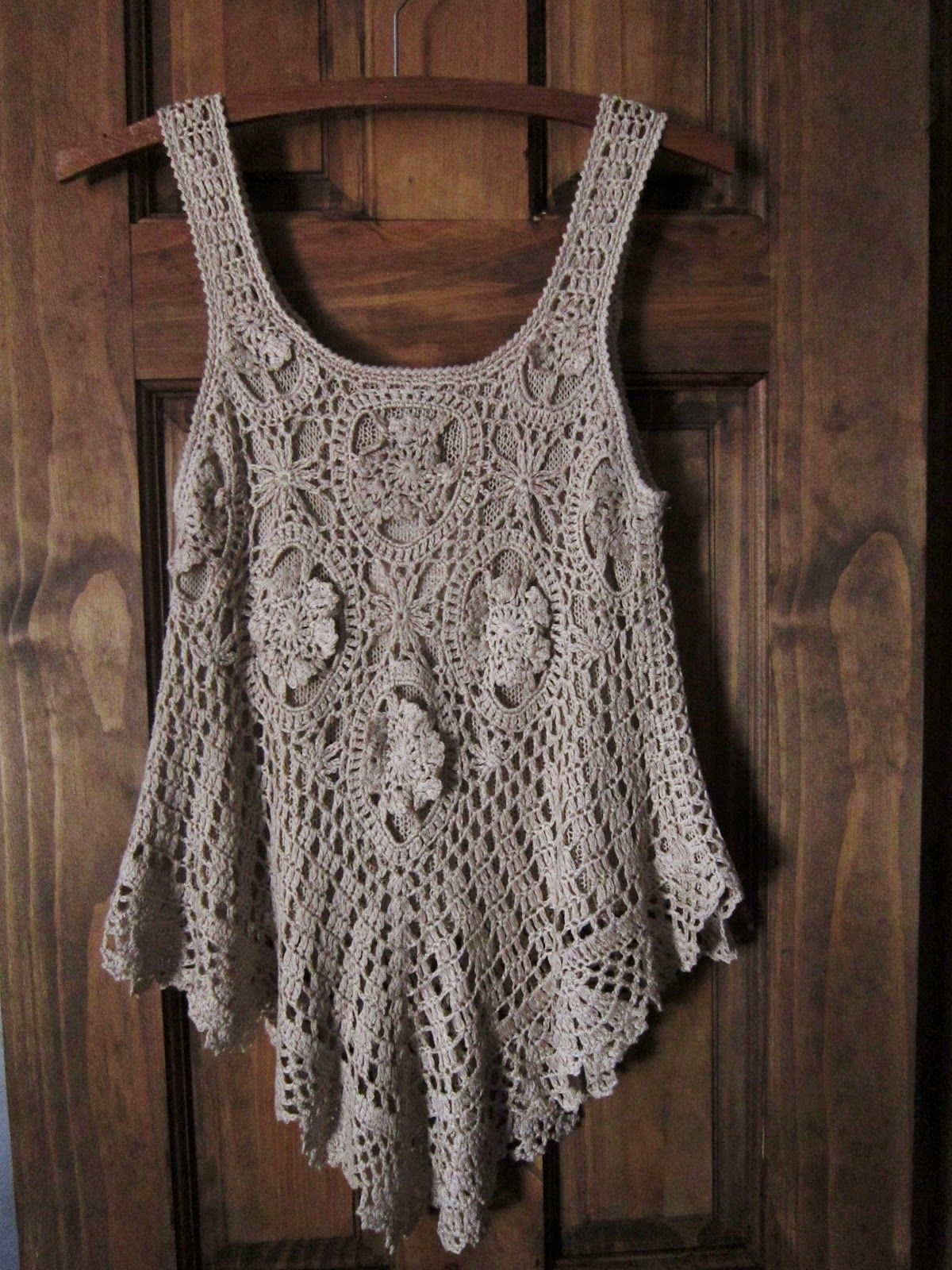 Bohemian Crochet Top. No pattern, inspiration only.   Crafting and ...