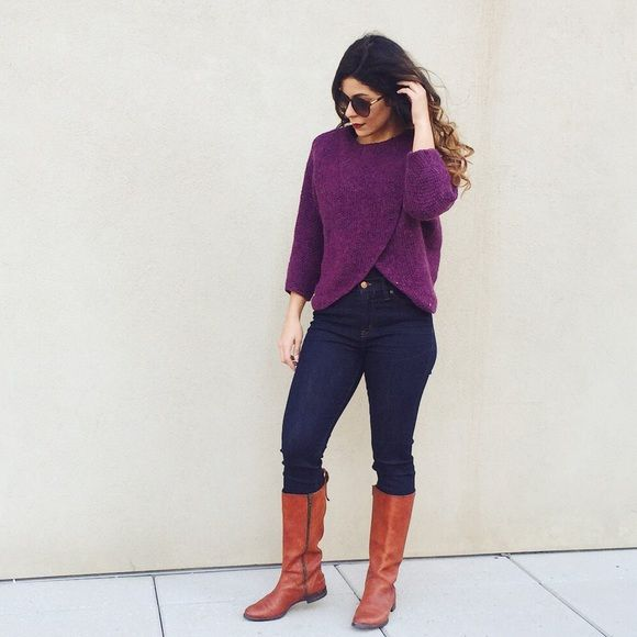 KATE SPADE Saturday Purple Sweater | Kate spade saturday, Poncho ...