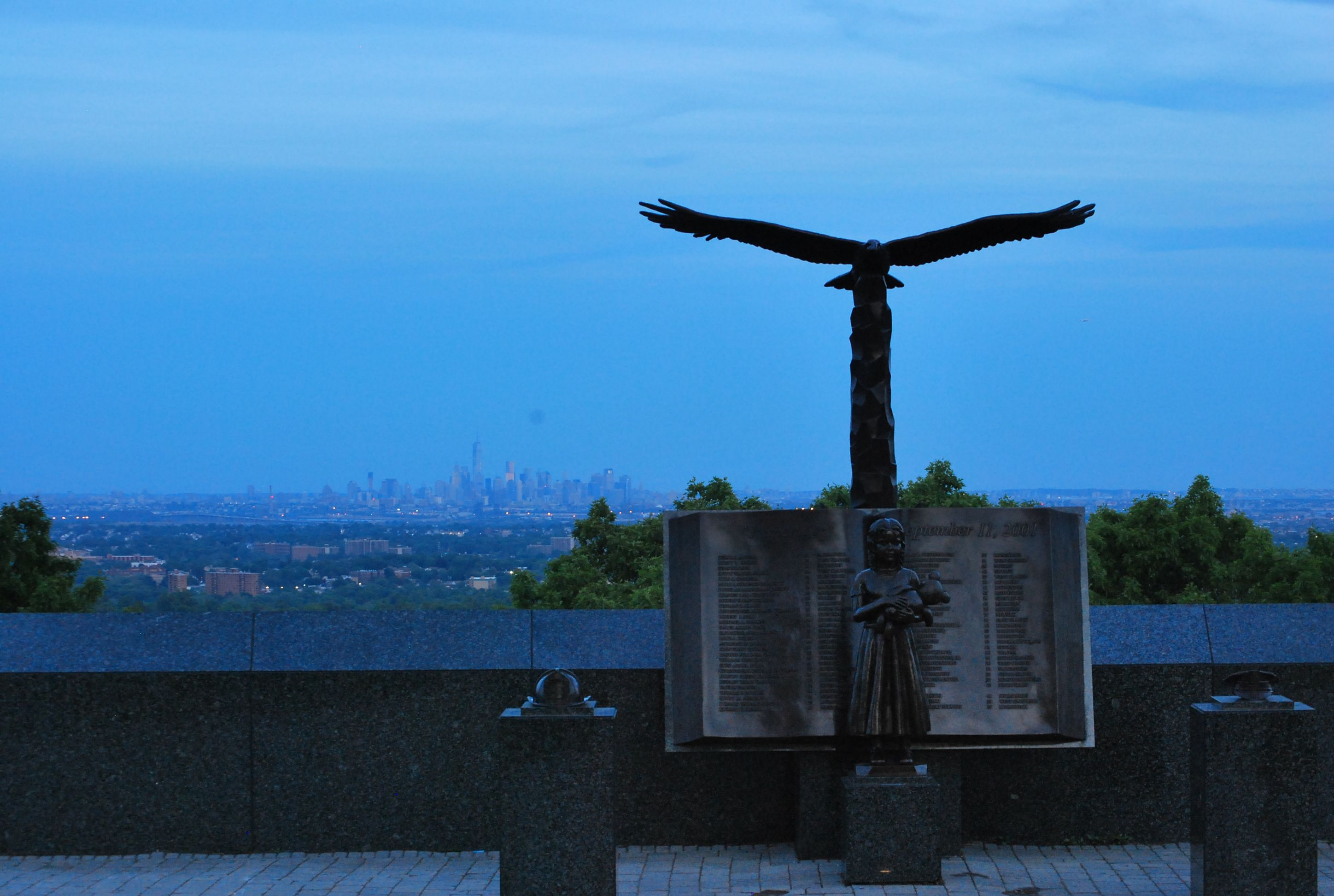 911 Memorial in New Jersey at Highland Pavilion in Eagle Rock Reservation near Montclair NJ. Check my blog at Chrisknowsbest.com for full article