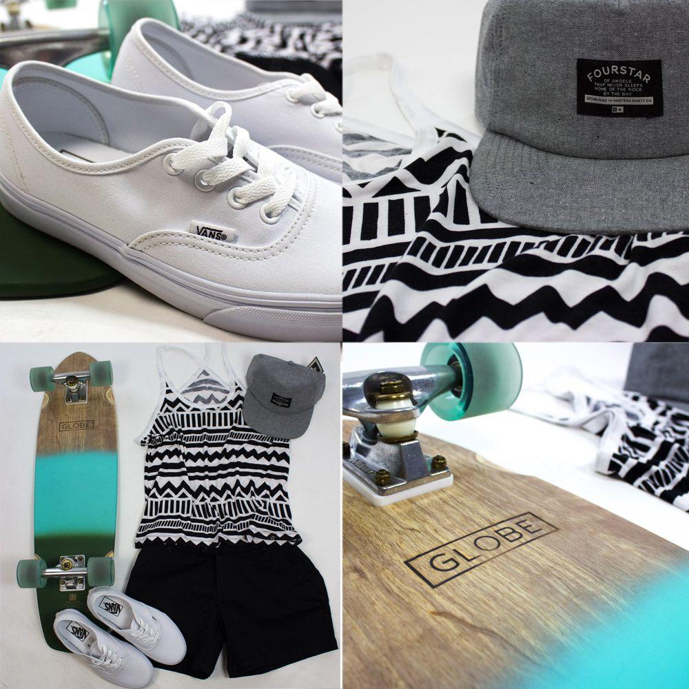getoutthere, summer, adventure, skate, girls, sputnikstore, vansgirls, style, fashion, skategirl, longboard