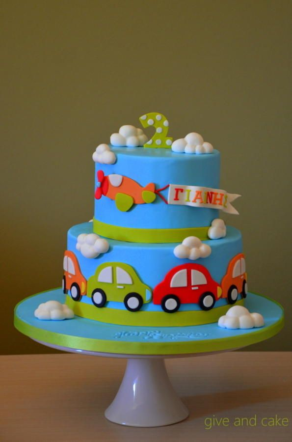 Little Boy Cars 1 Cake By Giveandcake Car Cakes In 2019 Cake