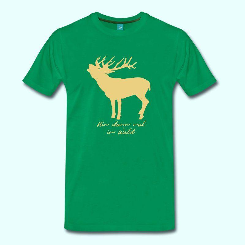 Männer T Shirt Ich bin dann mal im Wald