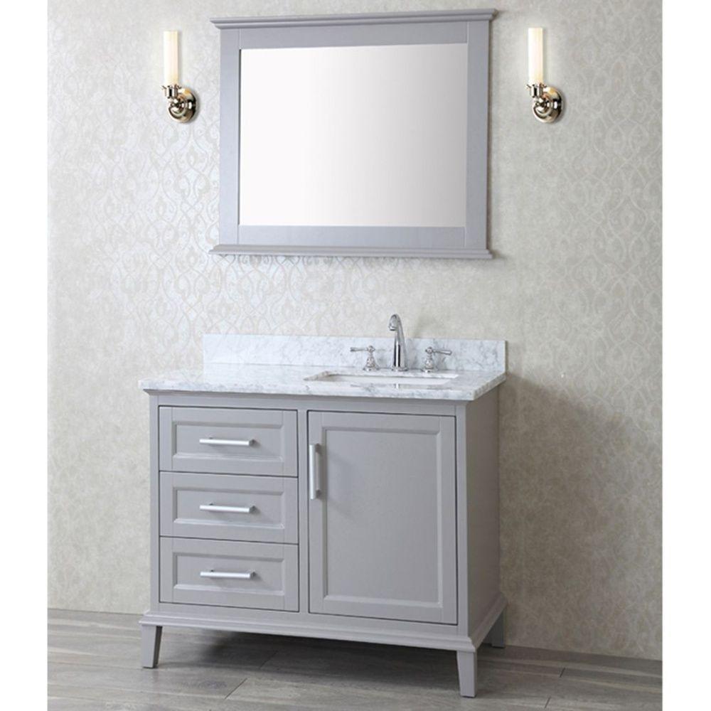 Ariel Bath Sc Nan 42 Swh Nantucket White Single Basin Bathroom