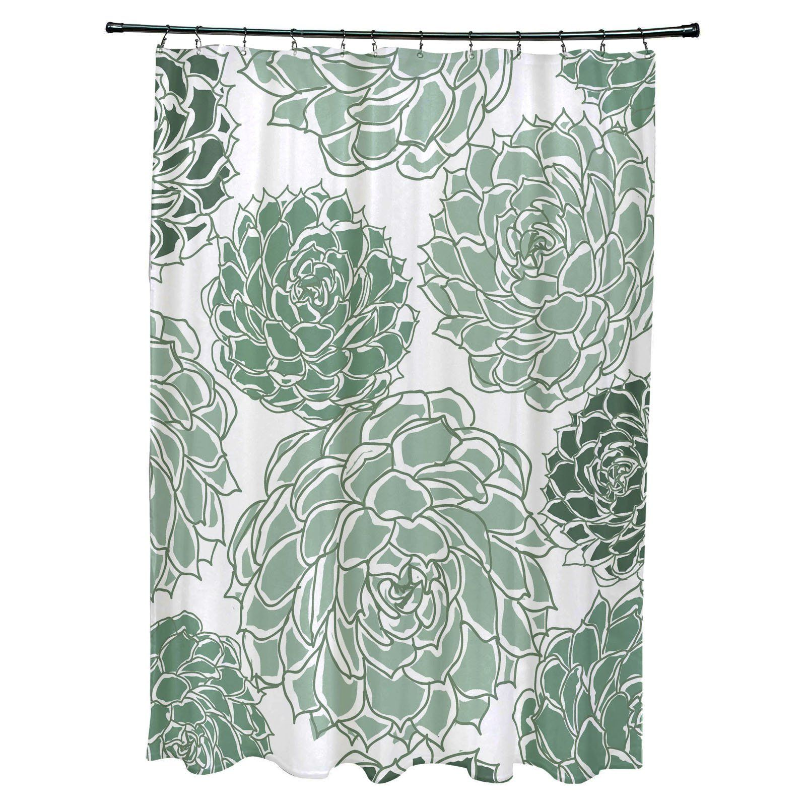 E By Design Olivia Polyester Shower Curtain Simply Daisy Shower