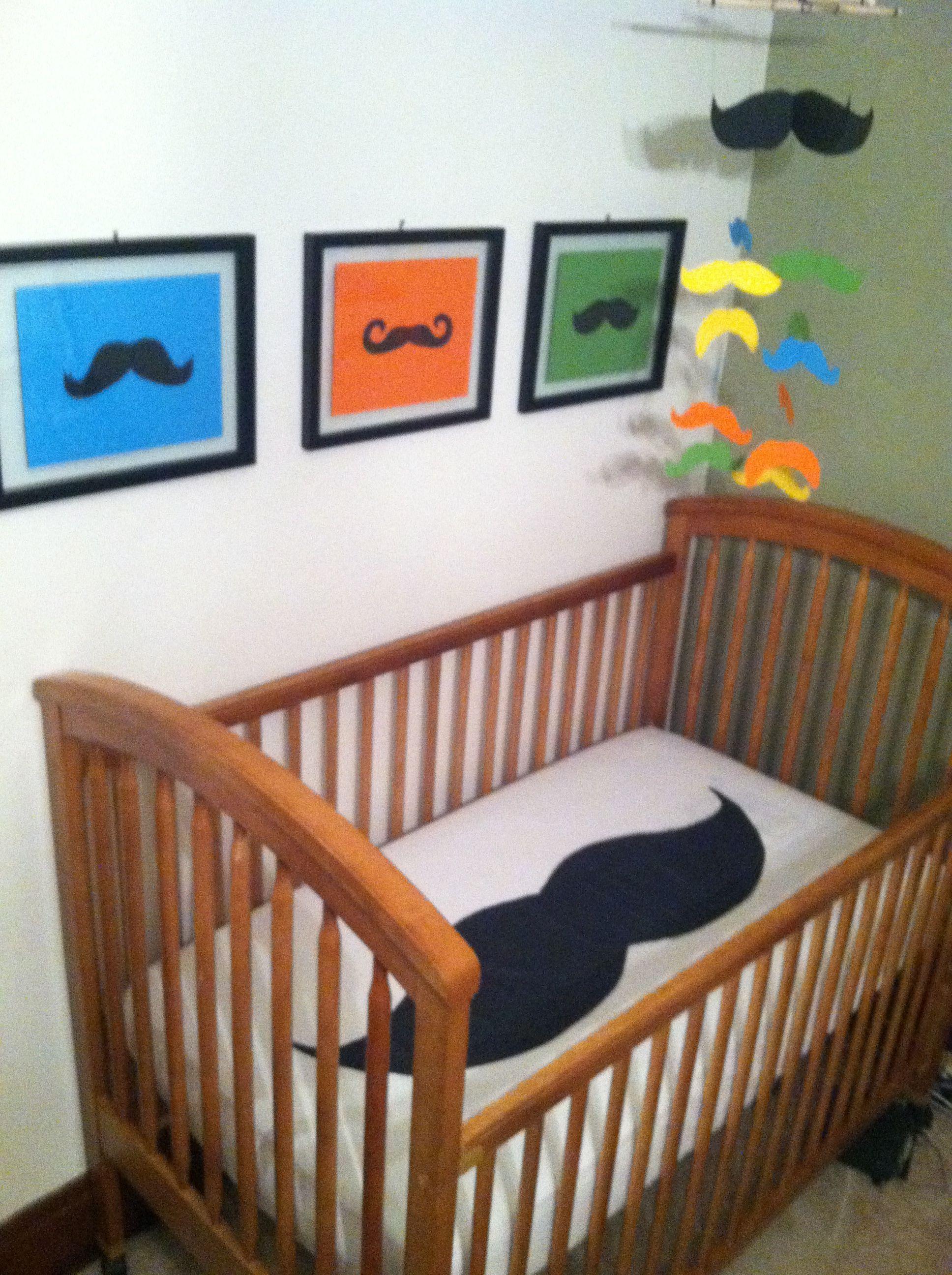 baby boy bedding baby shower gift Mustache crib sheet nursery bedding
