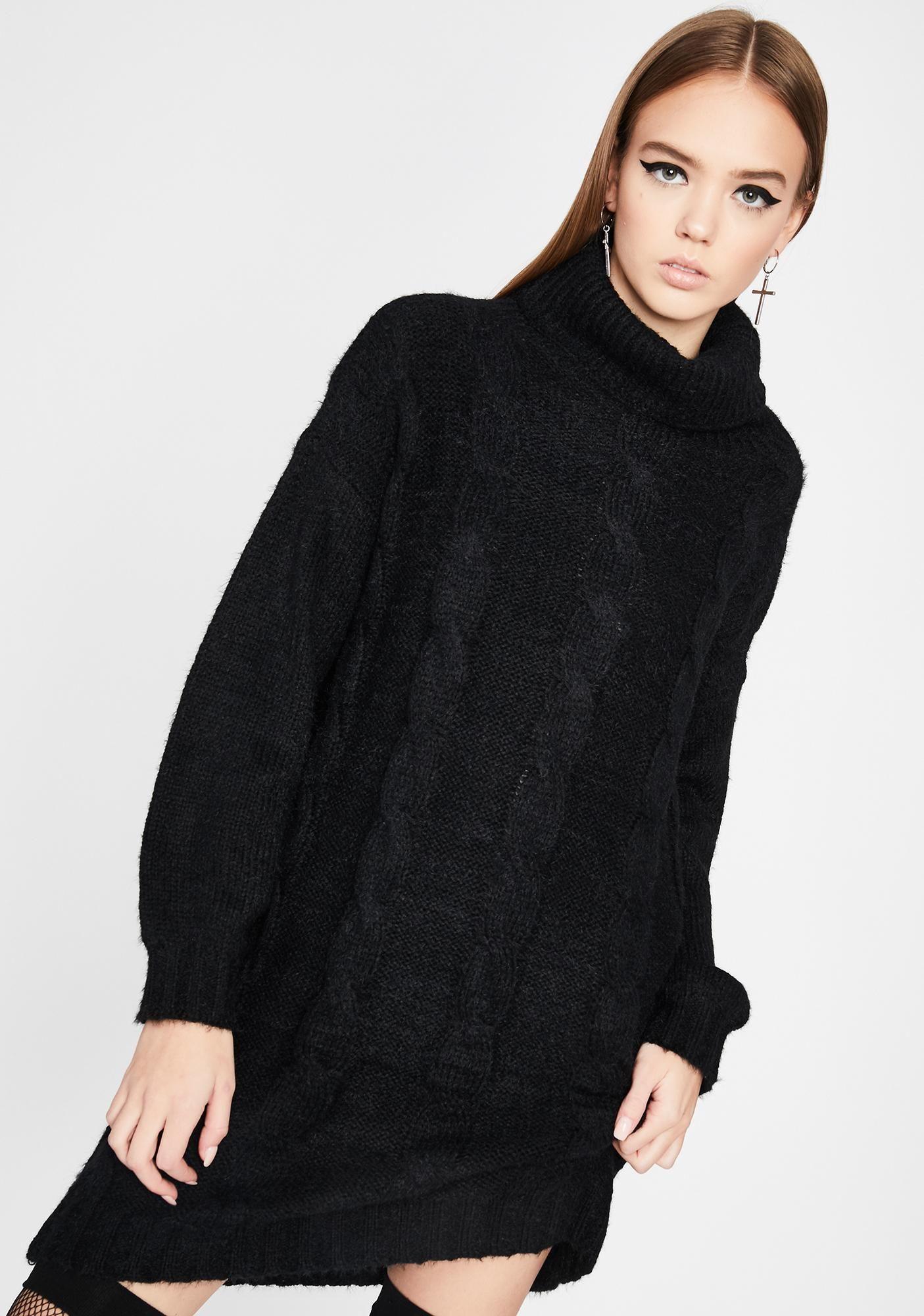 Noir Fall For It Sweater Dress Sweaters Sweater Dress Dresses [ 2000 x 1405 Pixel ]
