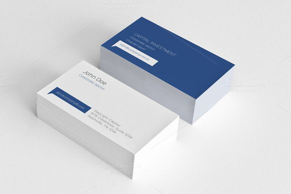 Simple Minimal Corporate Card With Images Business Card Design