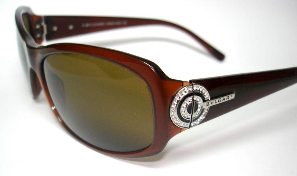 47160d74c5f Bvlgari Sunglasses 8003 Brown With crystals 825 73 Authentic 59mm  Bvlgari   square