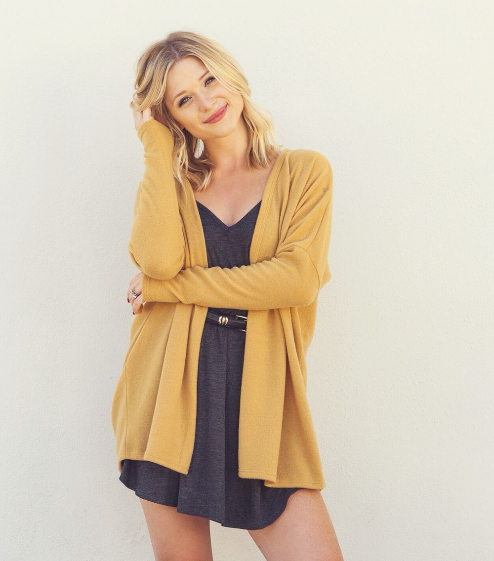 UNIVERSITY CARDI // This mustard color is perfect to pair with so many different things xx Effinshop.com