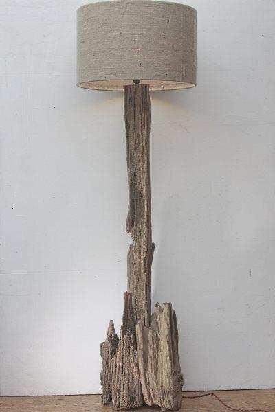 L mpara de pie de madera l mpara est ndar de madera de - Lamparas de pie rusticas de madera ...