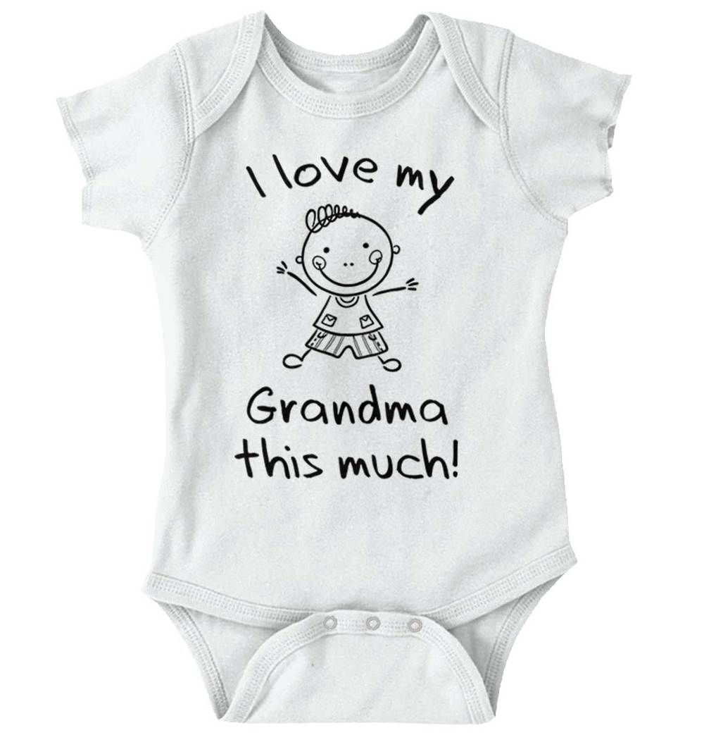 291e8eeaa I Love My Grandma Onesie | grandma grandmother grandparents grandpa  grandfather nana poppy love loving lovely mom mother mommy parents funny  quote saying ...
